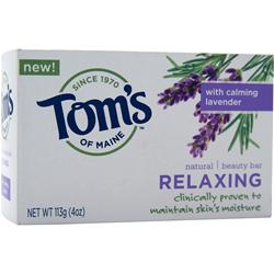 TOM'S OF MAINE Natural Beauty Bar Relaxing - Lavender 4 oz