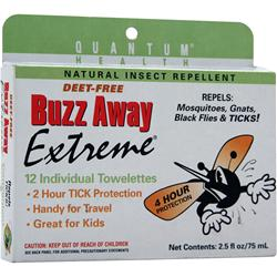 QUANTUM Buzz Away Extreme Towelettes 12 pck