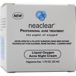 NEACLEAR Liquid Oxygen Acne Night Cream 1.75 oz