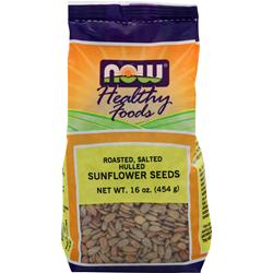 NOW Sunflower Seeds - Roasted, Salted Hulled 16 oz
