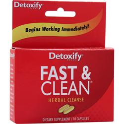 Detoxify Fast & Clean - Herbal Cleanse 10 caps