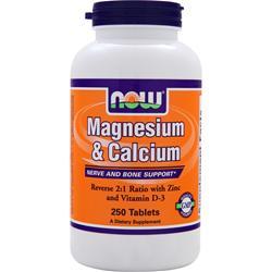 Now Magnesium & Calcium 250 tabs