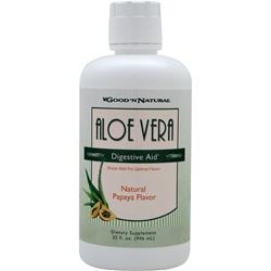 GOOD 'N NATURAL Aloe Vera - Digestive Aid (Liquid) Papaya Best by 4/14 32 fl.oz
