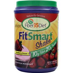 Renew Life The Fiber35Diet - FitSmart Shake Strawberry Dream 1.3 lbs