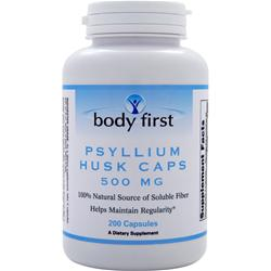 BODY FIRST Psyllium Husk Caps (500mg) 200 caps