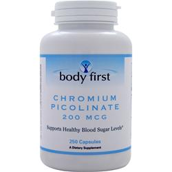 Body First Chromium Picolinate (200mcg) 250 caps