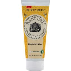 BURT'S BEES Baby Bee Nourishing Lotion Fragrance Free 6 oz