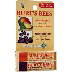 BURT'S BEES Lip Balm 2 pack Nourishing & Rejuvenating 2 unit