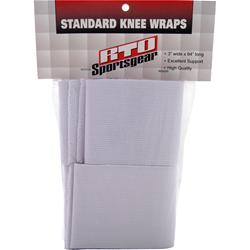 RTO Standard Knee Wraps White 2 wraps