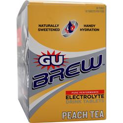 GU Brew Electrolyte Drink Tablets Peach Tea 120 tabs