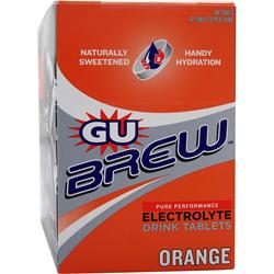 GU Brew Electrolyte Drink Tablets Orange 120 tabs