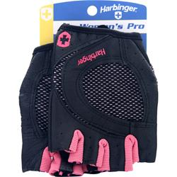 HARBINGER Women's Pro Glove Wash and Dry Black/Pink (S) 2 glove