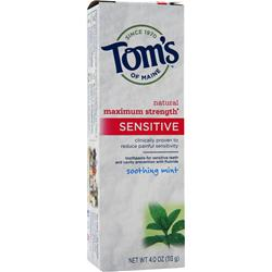 TOM'S OF MAINE Maximum Strength Sensitive Toothpaste Soothing Mint 4 oz