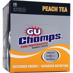 Gu Chomps Peach Tea - 2x Caffeine 16 pckts