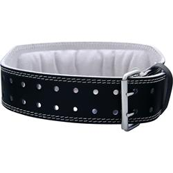 Harbinger 4 Inch Padded Leather Belt Black (Medium) 29-33 waist 1 belt