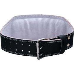 HARBINGER 6 Inch Padded Leather Belt Black (Large) 33-42 waist 1 belt