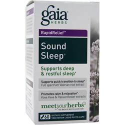 Gaia Herbs Rapid Relief - Sound Sleep 60 vcaps