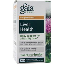 GAIA HERBS Daily Wellness - Liver Health 60 vcaps