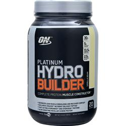 OPTIMUM NUTRITION Platinum Hydro Builder Vanilla Bean 2.2 lbs