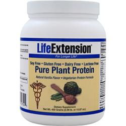 LIFE EXTENSION Pure Plant Protein Natural Vanilla 450 grams