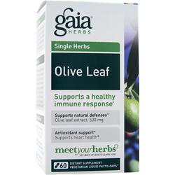 GAIA HERBS Single Herbs - Olive Leaf 120 vcaps