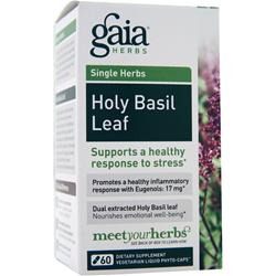 GAIA HERBS Single Herbs - Holy Basil Leaf 60 vcaps