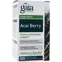 Gaia Herbs Single Herbs - Acai Berry 60 caps