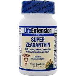 Life Extension Super Zeaxanthin with Lutein, Meso-Zeaxanthin Plus Astaxanthin and C3G 60 sgels