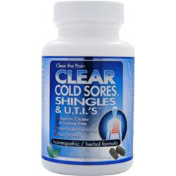 Clear Products Cold Sores, Shingles & U.T.I.s 60 caps