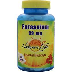 Nature's Life Potassium (99mg) 250 tabs