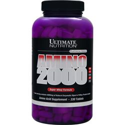 ULTIMATE NUTRITION Amino 2000 Super Whey Formula 330 tabs