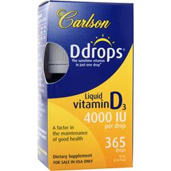 CARLSON Ddrops - Liquid Vitamin D3 (4000IU) 10 mL