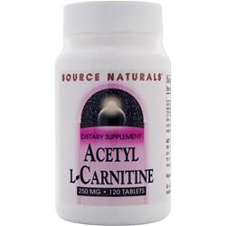 SOURCE NATURALS Acetyl L-Carnitine (250 mg) 120 tabs