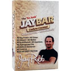 JAY ROBB JayBar Cashew Coconut 12 bars