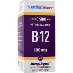 Superior Source MicroLingual No Shot Methylcobalamin B12 (1000mcg) 60 tabs