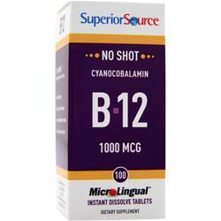 Superior Source MicroLingual No Shot Cyanocobalamin B12 (1000mcg) 100 tabs