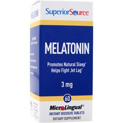 Superior Source MicroLingual Melatonin (3mg) 60 tabs
