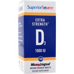 SUPERIOR SOURCE MicroLingual Extra Strength D3 (1000IU) 100 tabs
