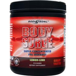 BODYSTRONG Body Surge - Super Concentrated Pre-Workout Lemon Lime 270 grams