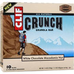 Clif Bar Crunch Granola Bar White Chocolate Macadamia 10 bars