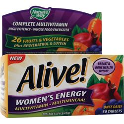 Nature's Way Alive Women's Energy Multivitamin-Multimineral Caffeine-Free 50 tabs