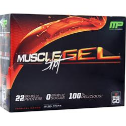 MUSCLE PHARM MuscleGel Shot Tropical Mango 12 pckts