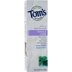 TOM'S OF MAINE Whole Care Toothpaste Peppermint 4.7 oz
