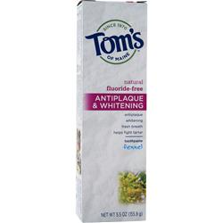 Tom's Of Maine Antiplaque & Whitening Toothpaste Fennel - Fluoride-Free 5.5 oz