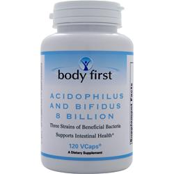 Body First Acidophilus and Bifidus 8 Billion 120 vcaps