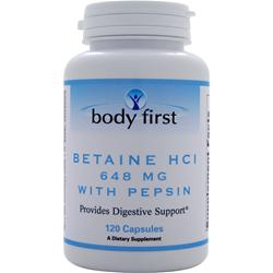 Body First Betaine HCl (648mg) with Pepsin 120 caps