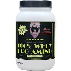 HEALTHY N FIT 100% Whey Pro-Amino Vanilla Ice Cream 2 lbs