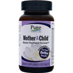PURE ESSENCE LABS Mother & Child - Master PostNatal Formula 120 tabs