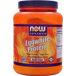 NOW Eggwhite Protein Vanilla Creme 1.5 lbs