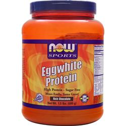 NOW Eggwhite Protein Rich Chocolate 1.5 lbs